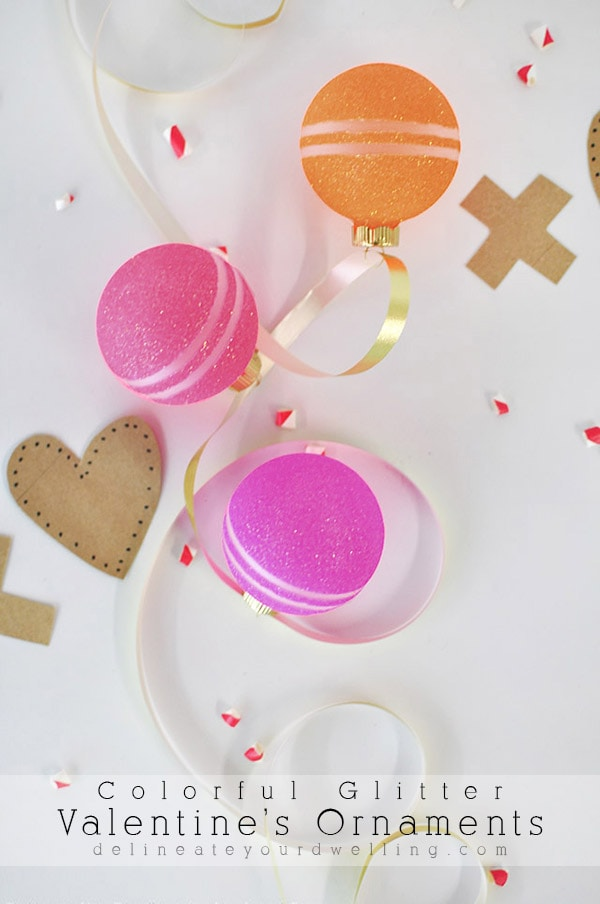 Colorful Glitter Valentine S Ornaments Delineate Your Dwelling