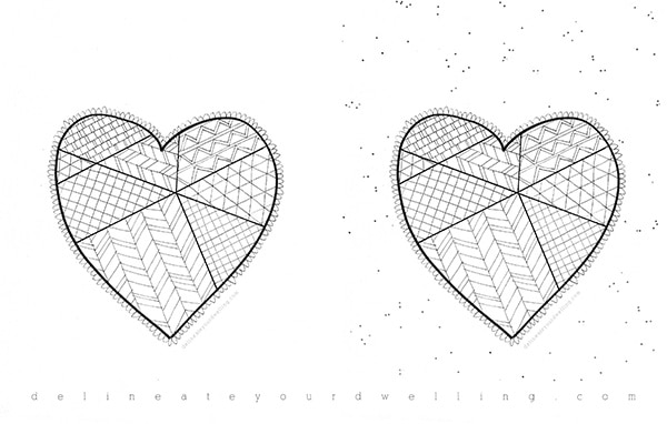 Geo Heart Coloring Pages