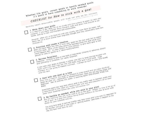 Life goal checklist