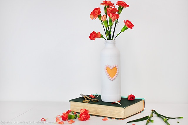 Painted Valentine Vase