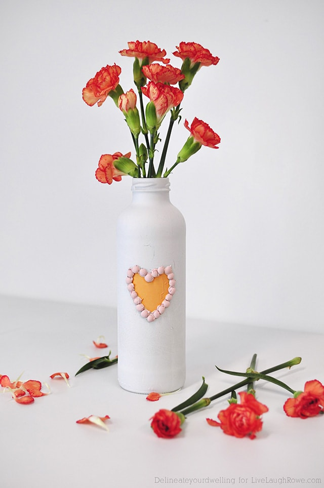 Valentine's Day Painted Vase