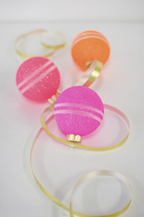 Valentine Glitter Ornaments