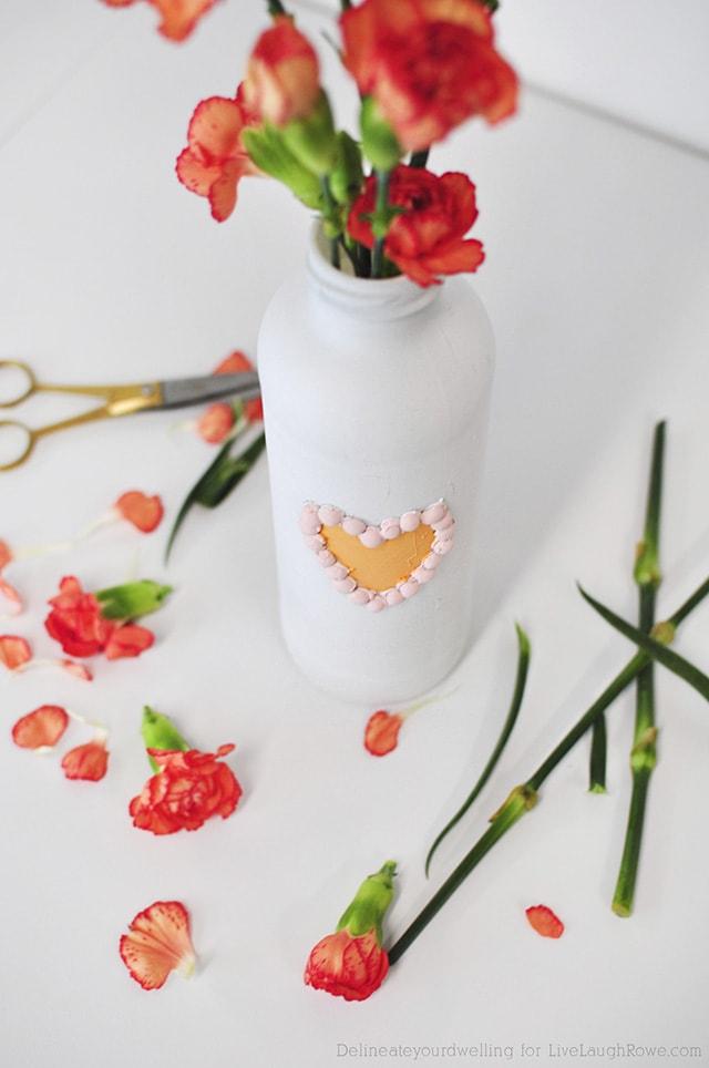 Valentine's Painted Vase