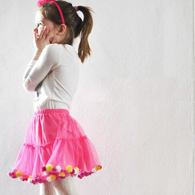 1 No Sew Pom Pom Party Skirt