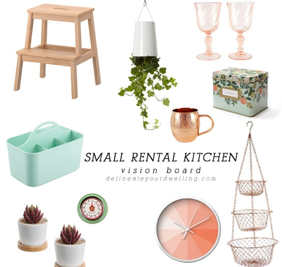1 Small Rental Kitchen Vision Boards