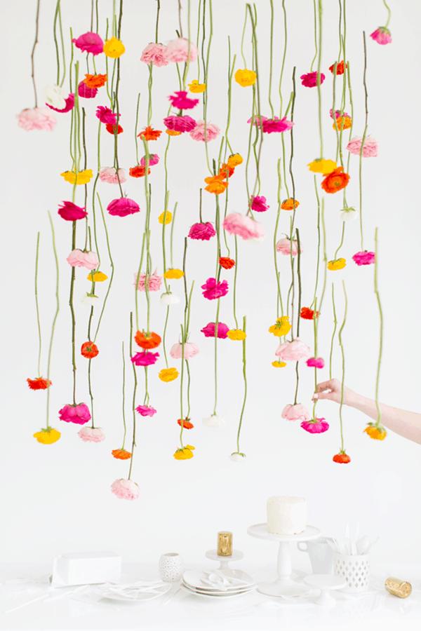Flower Chandelier-plant-diys