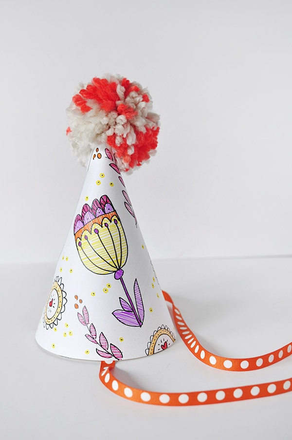 Fun Color Your Own Party Hat