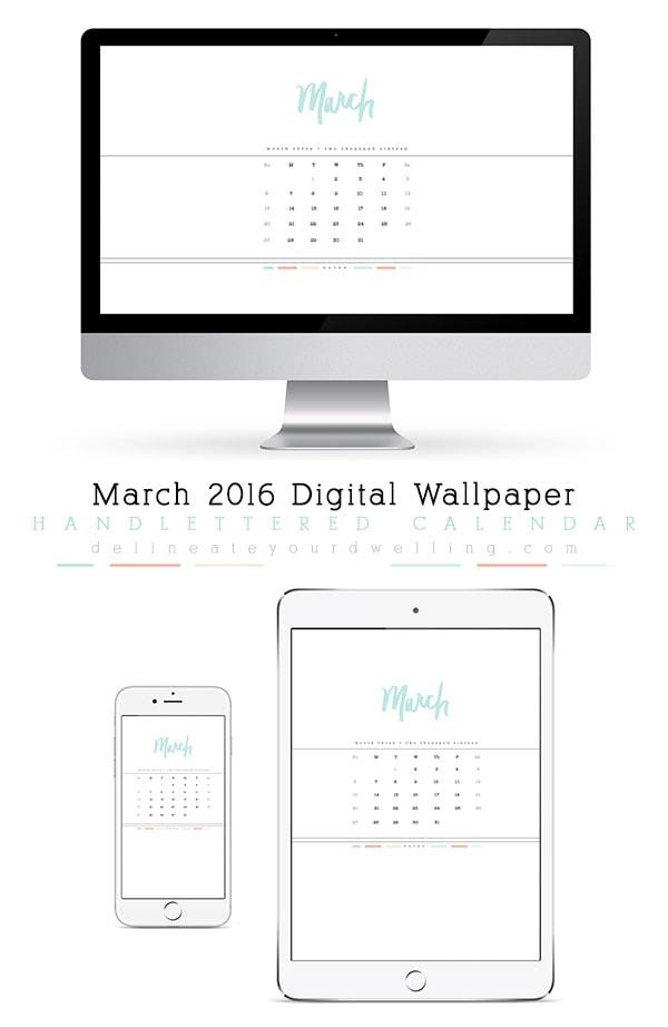 March-2016-digital-calendar, Delineate Your Dwelling