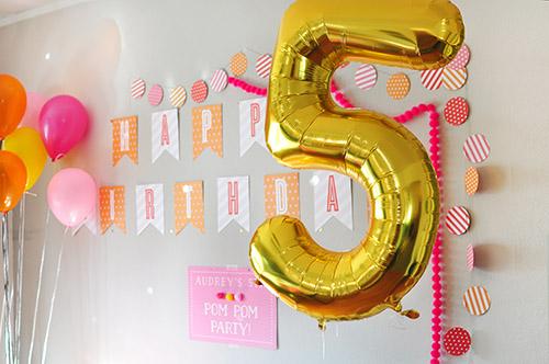 Pom Pom Birthday Party, Delineate Your Dwelling