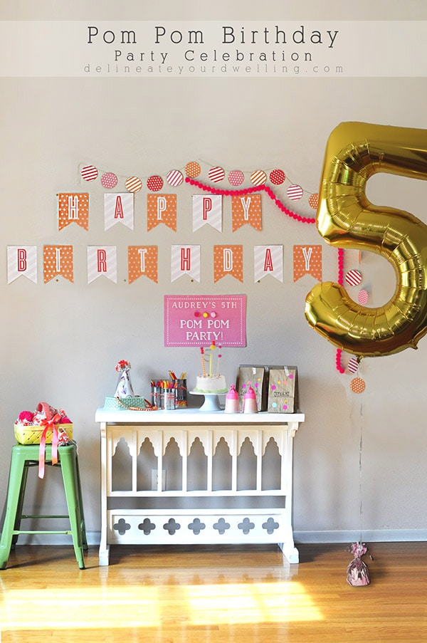 Creative Pom Pom Birthday Party