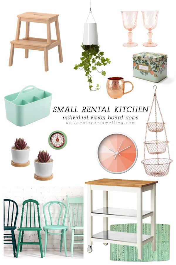 Small Rental Kitchen Vision Board Items, Delineateyourdwelling.com