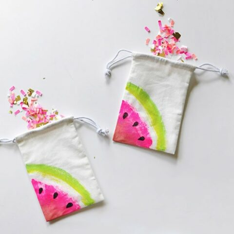 How to Paint Mini Watermelon Bags