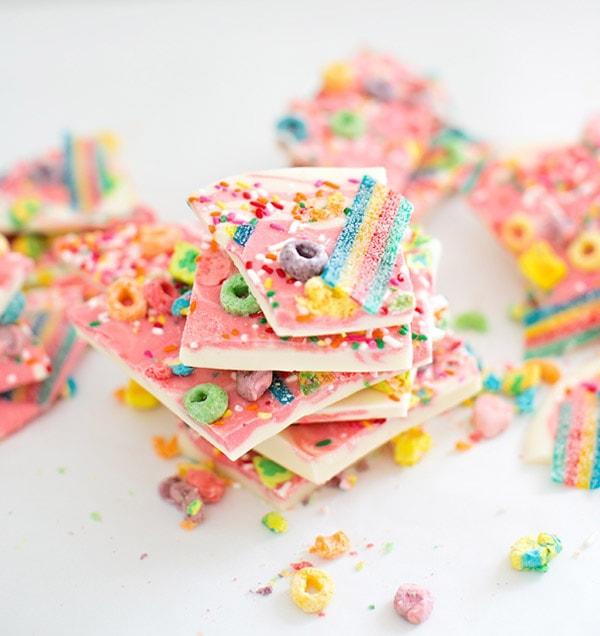 10-rainbow-unicorn-bark, Chocolate Bark Recipe