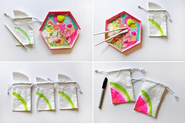 Painted Mini Watermelon Bag steps