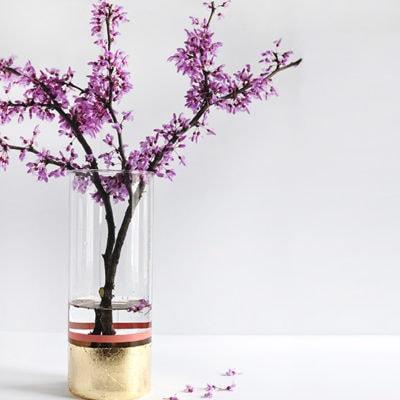 1 DIY Gold Foil Vase