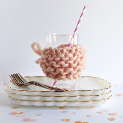 1 Knit Glassware Mug Covers