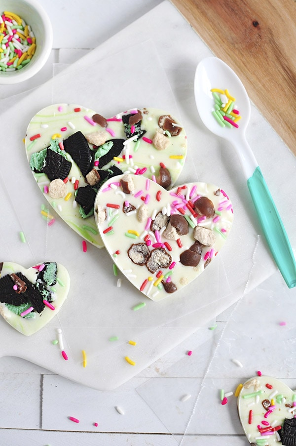 Chocolate Heart Bark recipes