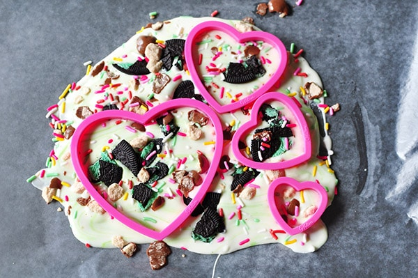 Chocolate Heart Bark steps