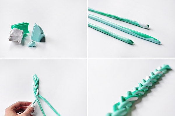 DIY Clay Braided Bracelet steps