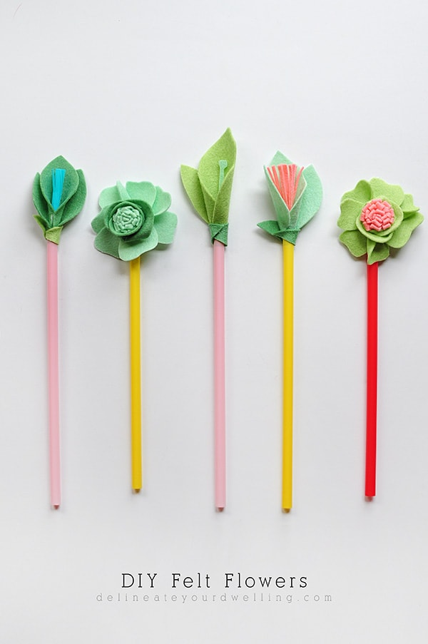 How to craft DIY Felt Flowers, Delineate Your Dwelling #feltflowers
