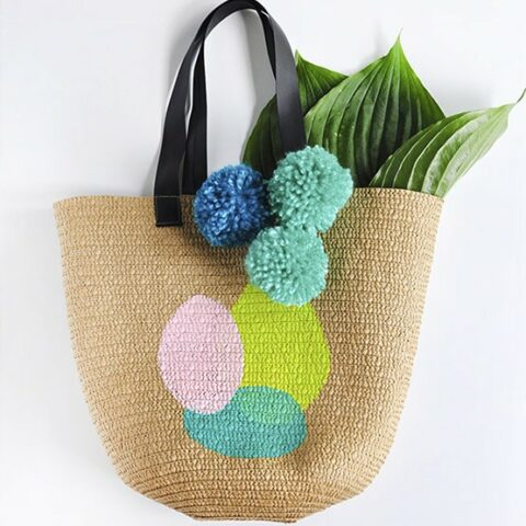 1 Painted Circle Summer Tote