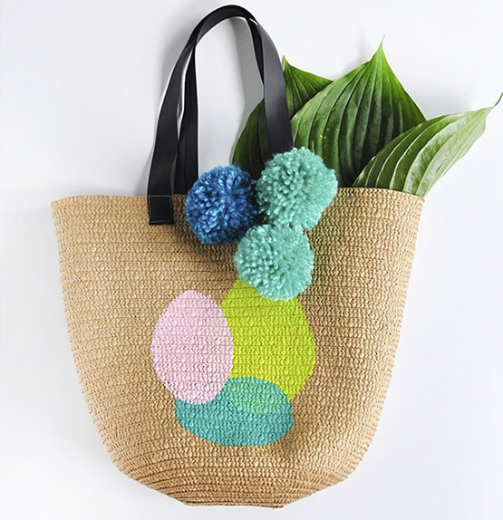DIY Painted Circle Summer Tote