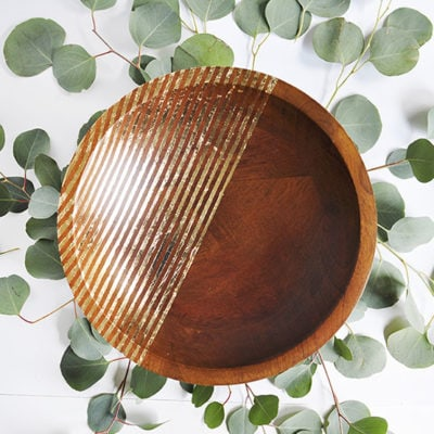 1 Striped Gold Foil Bowl