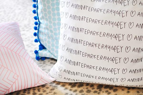 DIY Custom Fabric Pillow rug
