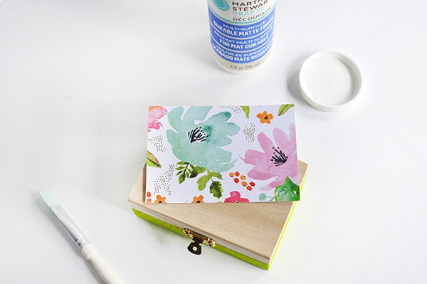 DIY Floral Painted Box Steps 2