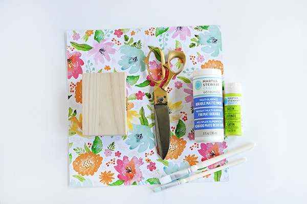 DIY Floral Painted Box Supplies