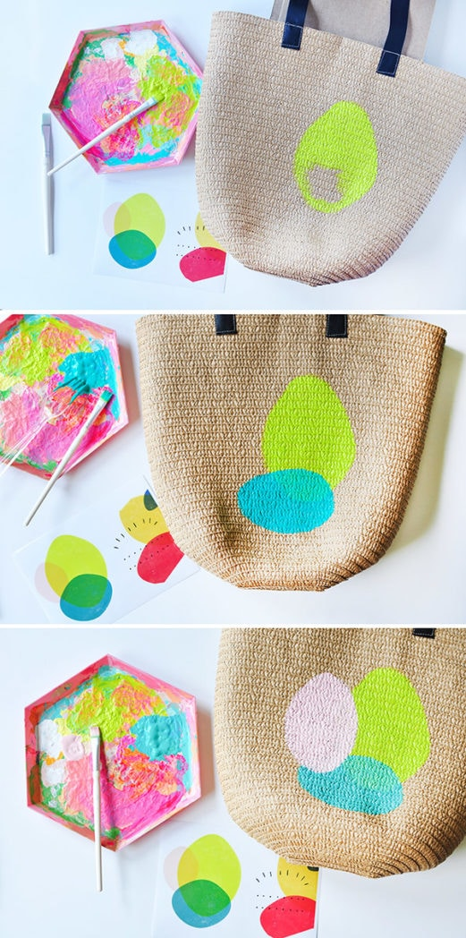 Create a fun DIY Painted Tote bag, steps