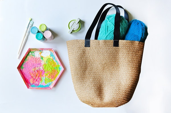 Painted Tote bag supplies