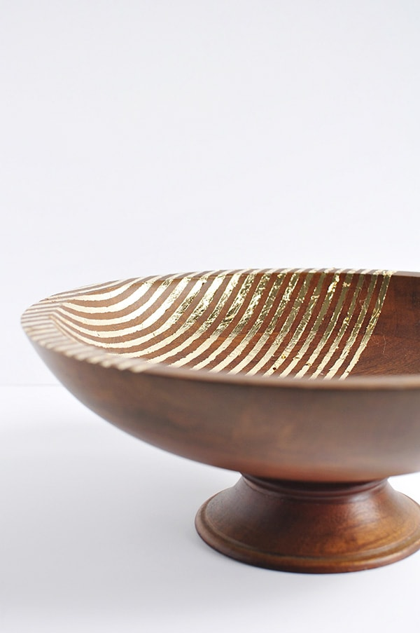 Striped Foil Bowl
