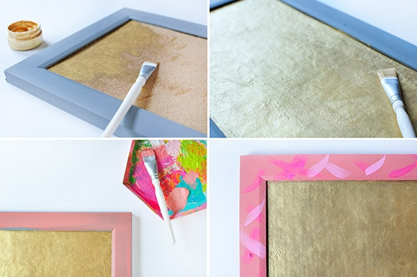 Brushstroke Cork Board steps