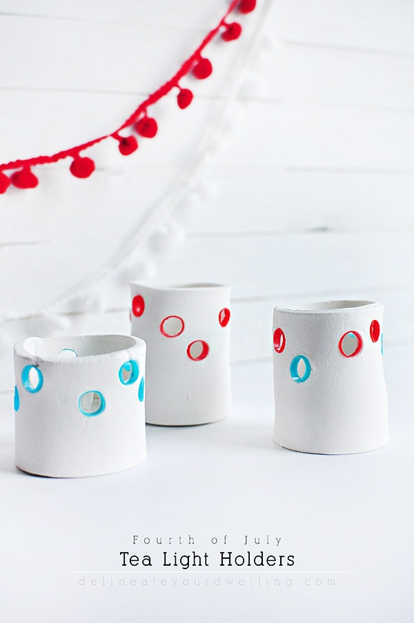 DIY 4th of July Tea Light Holders