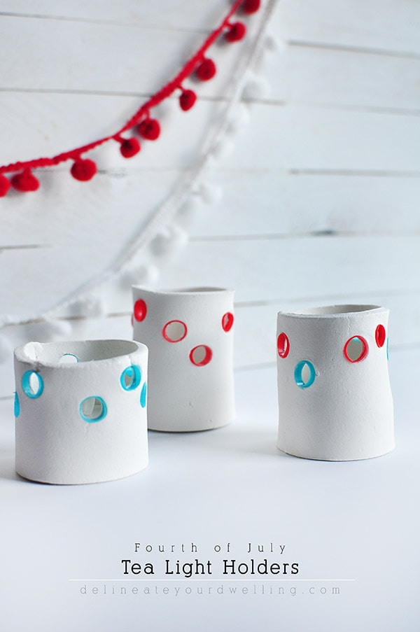 DIY Fourth of July Tea Light Holder, Delineate Your Dwelling