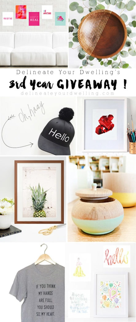 Delineate Your Dwelling Giveaway