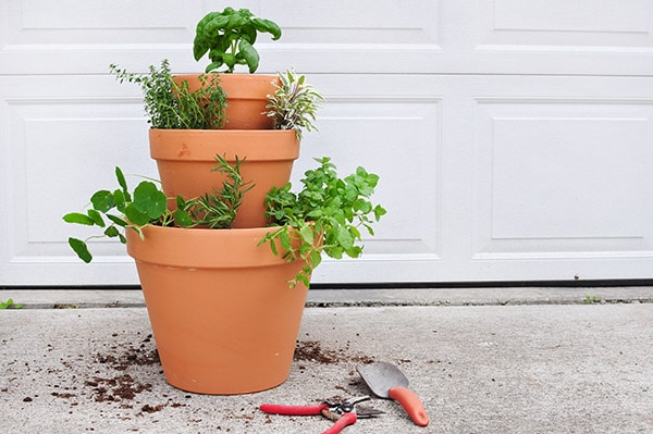 Stacked Herb Garden DIY