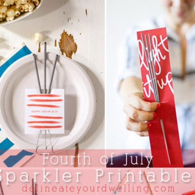 1Fourth of July Sparkler Printable