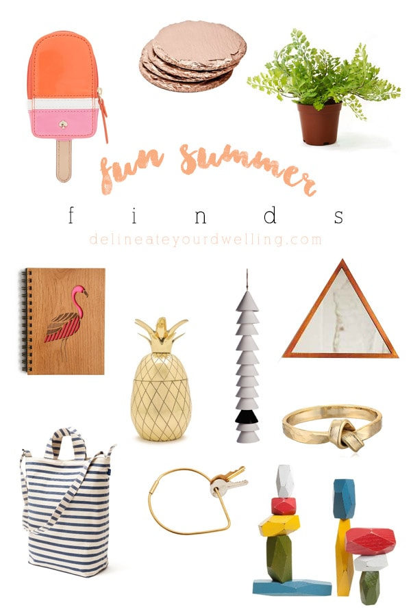 Fun Summer Finds, Delineate Your Dwelling