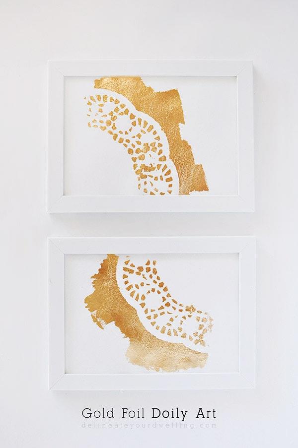 Gold-Foil-Doily-Art