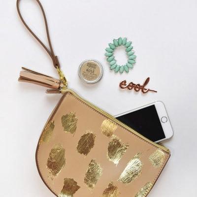 Gold Leaf Brushstroke Clutch
