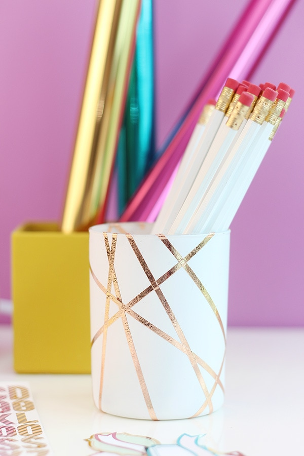 Gold Pencil Cup