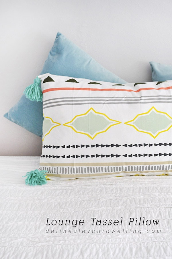 Simple to Sew Lounge Tassel Pillow