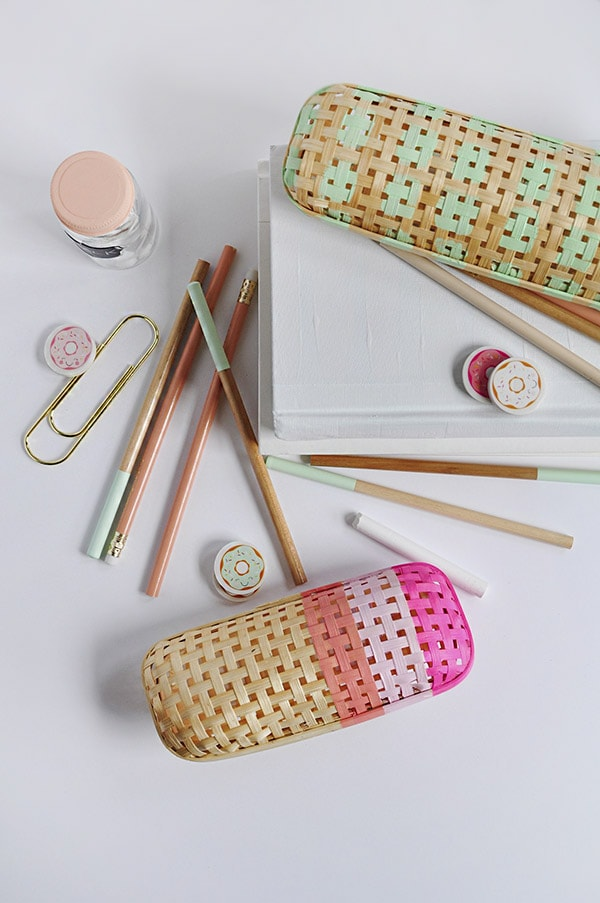 Rattan Pencil Case DIY