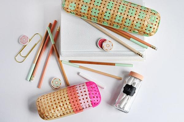 Rattan Pencil Cases DIY