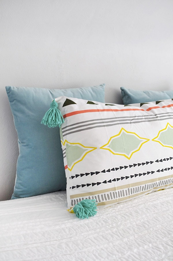 Sew Lounge Tassel Pillow, Delineate Your Dwelling
