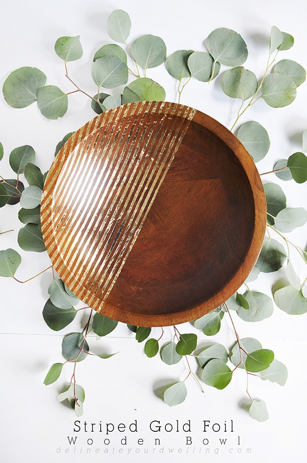 Striped-Gold-Foil-Bowl, Delineate Your Dwelling