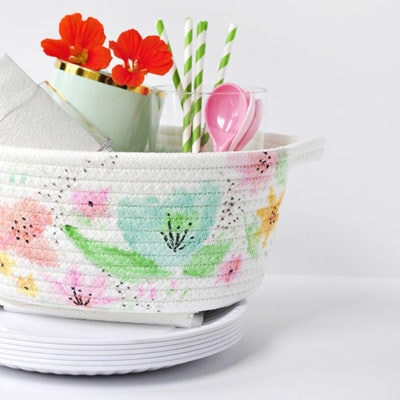 1 DIY Watercolor Basket