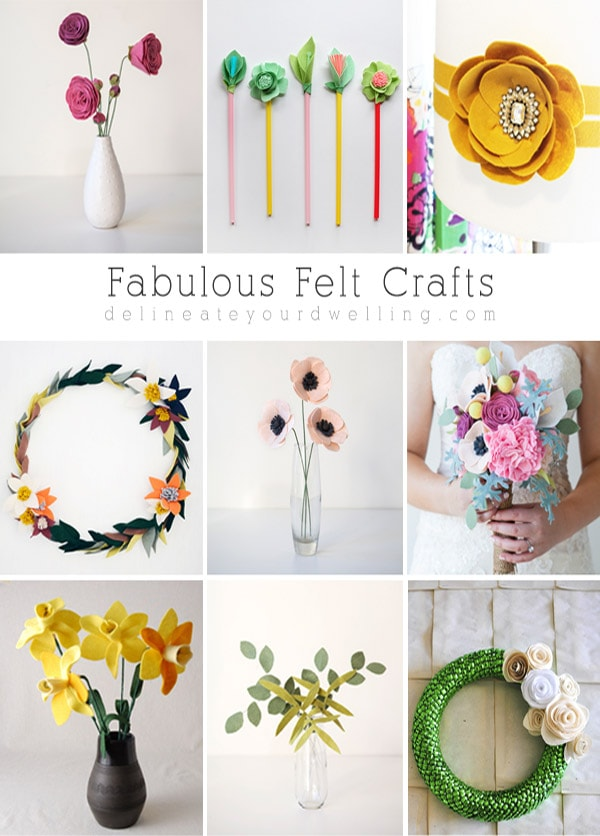 Fabulous Felt Crafts, Delineate Your Dwelling